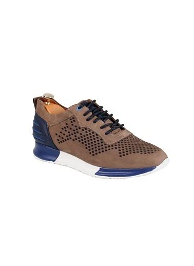 Tripy Hakiki Deri Sneakers Vizon